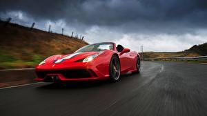 Фотографии Ferrari Красный Движение 2014 Speciale A 458