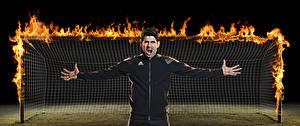 Фотография Футбол Огонь Мужчины Вратарь в футболе Diego Costa Знаменитости
