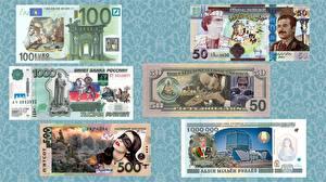 Обои Деньги Купюры Евро Доллары Рубли Юмор фото