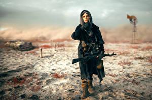 Обои Снайперская винтовка Снайперы Blackbird Армия Девушки