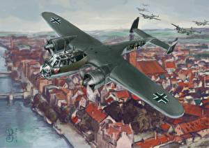 Обои Самолеты Рисованные Dornier Do 17