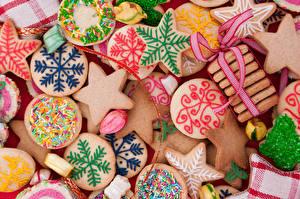 Обои Праздники Новый год Выпечка Печенье Еда фото