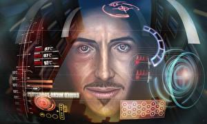 Картинки Железный человек Robert Downey Jr Лицо Фильмы