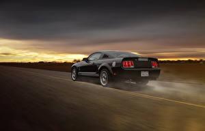 Фото Ford Черный Едущий Mustang GT 350 Aristo Машины