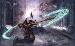 Фото Diablo III Магия Воины С топором Монах Фантастика Фэнтези