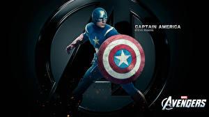 Фото Мстители (фильм, 2012) Крис Эванс Капитан Америка герой Щит Steve Rogers Кино Фэнтези Знаменитости
