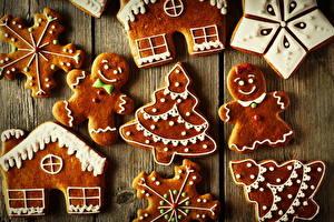 Обои Выпечка Печенье Новый год Елка Дизайн Еда фото