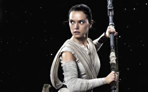 Обои Звездные войны Звёздные войны: Пробуждение Силы Дэйзи Ридли Кино Фэнтези Знаменитости Девушки