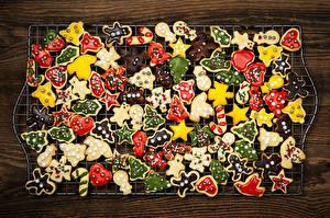 Обои Новый год Печенье Праздники Еда фото