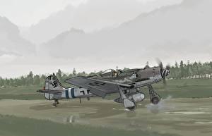 Картинка Самолеты Истребители Рисованные