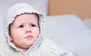 Фото Младенцы Смотрит Лицо Ребёнок