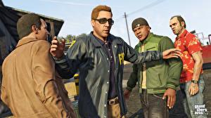 Картинки GTA 5 Мужчины Игры 3D_Графика