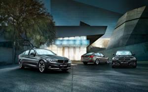 Обои BMW Втроем 2015 Gran Turismo 3 series GT машины