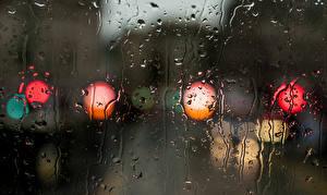 Обои Дождь Текстура Капли Стекло