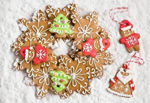 Обои Выпечка Печенье Праздники Новый год Еда фото