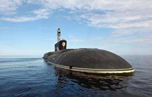Картинка Подводные лодки Небо К-551