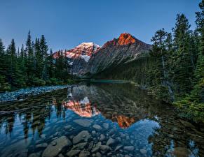 Фотографии Канада Парки Озеро Горы Пейзаж Джаспер парк