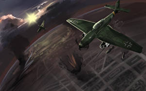 Фотографии Самолеты Рисованные 1941