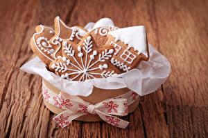 Обои Выпечка Печенье Новый год Коробка Еда фото