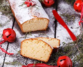 Обои Новый год Выпечка Кекс Fruitcake Еда фото