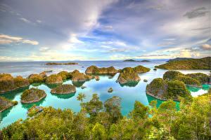 Фото Индонезия Тропики Остров Море Небо Besir West Papua Природа