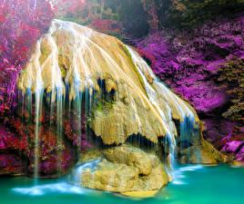 Обои Таиланд Водопады Парки Природа фото