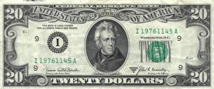 Обои Доллары Купюры Деньги 20 Jackson фото
