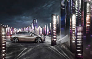 Картинка BMW Сбоку Седан 2015 Concept Compact Sedan Автомобили