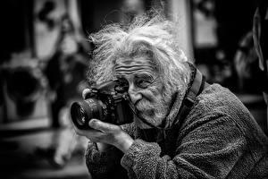 Фотография Мужчины Борода Старый Фотокамера Фотограф street photographer