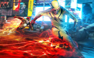 Картинка Герои комиксов Флэш телесериал 2014 Флэш герои Reverse-Flash Eobard Thawne Barry Allen Flash Кино