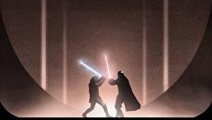 Фото Звездные войны Звездные войны Эпизод 2 - Атака клонов Световой меч Мечи Сражение Джедаи jedi lightsaber Sith Lord Count Dooku Anakin Skywalker Фэнтези