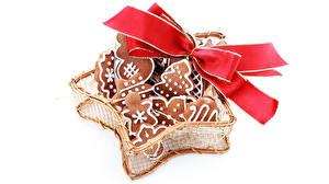Обои Новый год Выпечка Печенье Бантик Коробка Еда фото