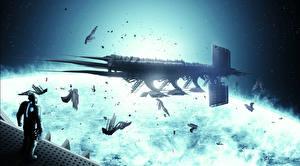 Обои Dead Space 3 Корабли Игры Фэнтези Космос фото