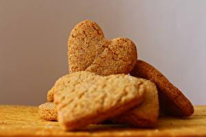 Обои Печенье Крупным планом Сердце Еда фото