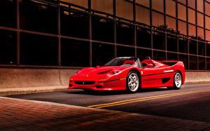Картинка Феррари Красный F50 supercar Автомобили