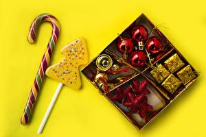 Обои Рождество Сладости Леденцы Шар Candy cane