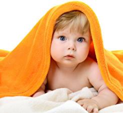 Фото Младенцы Взгляд Лицо Ребёнок