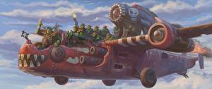 Фотографии Warhammer 40000 Самолеты Игры Фэнтези