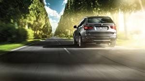Фотография BMW Дороги Сзади Движение 2014 Alpina X3 XD3 Bi-Turbo UK-spec F25 Автомобили