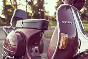 Картинка Ретро Крупным планом vespa Мотоциклы