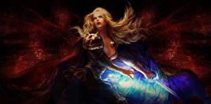 Фотография Воины Магия Мечи Блондинка Path of Exile Игры Фэнтези