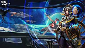 Обои Мужчины Корабли Cloud Raider Vox Vainglory Игры Фэнтези Космос фото