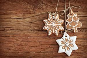 Обои Выпечка Печенье Праздники Новый год Шаблон поздравительной открытки Еда фото