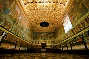 Обои Испания Храмы Толедо Потолок