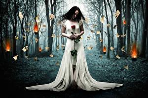 Фото Лес Розы Платье Burned Love девушка
