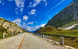 Картинки Дороги Реки Горы Небо Природа