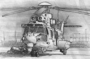Фото Рисованные Вертолеты