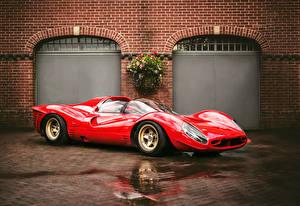 Картинка Ferrari Красный 1967 330 P4 Автомобили