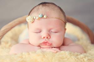 Обои Младенцы Сон Лицо Дети