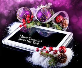 Обои Праздники Новый год Шарики Шишки фото